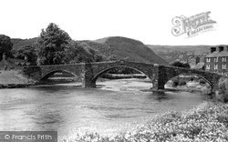 Llanrwst, The Bridge And River Conway 1963