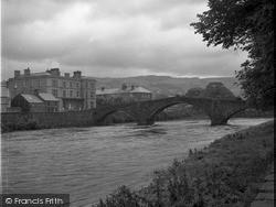 The Bridge And River Conwy 1952, Llanrwst