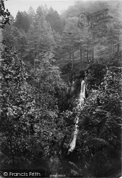 Llanrwst, White Mare's Tail Cascade From Above 1895