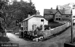 Monument Square c.1900, Llansannan