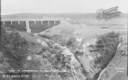 Llansannan, Rhaeadr Y Bedd, The Falls And Dam c.1955