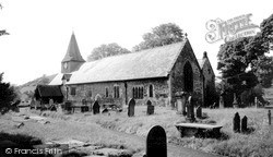 Llansantffraid-Ym-Mechain, St Ffraid's Church c.1955