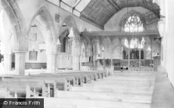 Llansantffraid-Ym-Mechain, St Ffraid's Church, Interior c.1955