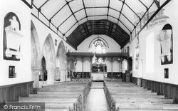 Llansantffraid-Ym-Mechain, St Ffraid's Church Interior c.1960