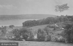 Llansteffan, Church And Castle 1933