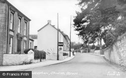 Llansteffan, Church Street c.1955