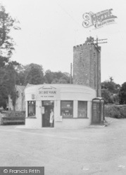 Llansteffan, Grocery Shop In The Square c.1955