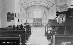 St Stephan's Church, Interior c.1955, Llansteffan