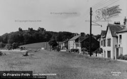 The Green And Castle c.1955, Llansteffan