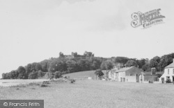 Llansteffan, The Green And Castle c.1955
