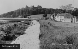 The Green And Castle c.1960, Llansteffan