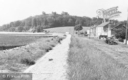 Llansteffan, The Sea Wall c.1960