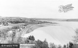 Llansteffan, The Two Bays c.1960