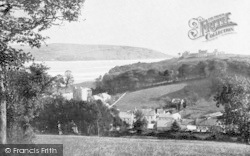 Llansteffan, Village And River Towy 1893