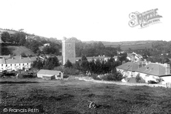 Llansteffan, Village And St Stephen's Church From The South 1893