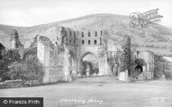 Llanthony, Abbey c.1930