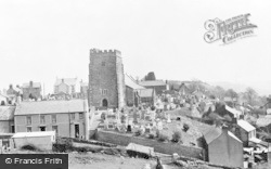 Llantrisant, The Churchyard And Village c.1955
