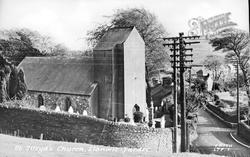 St Illtyd's Church c.1955, Llantwit Fardre