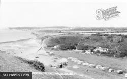 Beach And Caravan Park c.1960, Llantwit Major