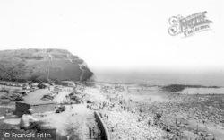 Beach And Cliffs c.1965, Llantwit Major