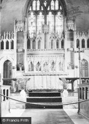 St Illtyd's Church Altar c.1955, Llantwit Major