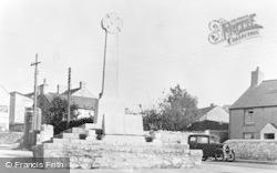 War Memorial c.1955, Llantwit Major