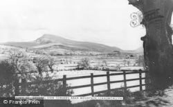 Llanuwchllyn, View Towards Aran Mountain c.1960