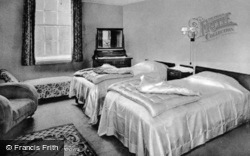 Abernant Lake Hotel, A Bedroom c.1955, Llanwrtyd Wells