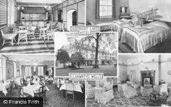 Abernant Lake Hotel Composite c.1955, Llanwrtyd Wells
