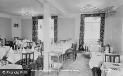 Dol-Y-Coed Hotel, The Dining Room c.1960, Llanwrtyd Wells
