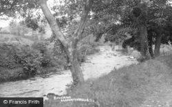Llanwrtyd Wells, River Irfon c.1930