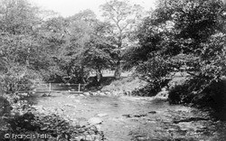 River Yrfon And Stepping Stones 1931, Llanwrtyd Wells