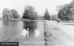 The Lake And Swans c.1935, Llanwrtyd Wells