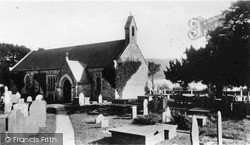 Church, By Bala Lake c.1935, Llanycil
