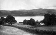 Llanycil, Lake And Church 1931