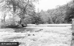 Llanymynech, The Weir, River Tanat c.1960