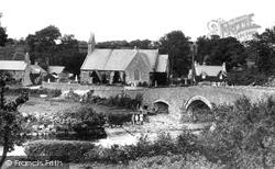 Llanystumdwy, Bridge And Church 1930