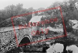 Bridge And St John The Baptist's Church 1897, Llanystumdwy