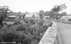 Llanystumdwy, The Bridge And Church c.1955