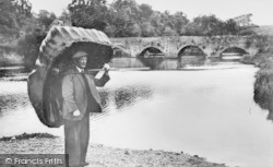 Llechryd, Coracle Fisherman c.1950