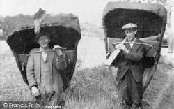Llechryd, Coracle Fishermen c.1950
