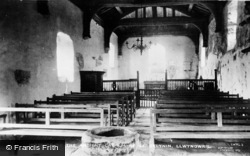Llwyngwril, Ancient Church Of St Celynin, Interior c.1920