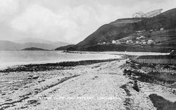 Llwyngwril, Beach Cliff And Estuary c.1920