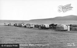 Llwyngwril, Borthwen Caravan Site c.1960