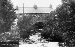 Bridge And Stream c.1920, Llwyngwril