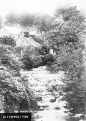 Llwyngwril, The River From Bridge c.1920