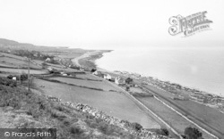 Llwyngwril, View From The Hills c.1960