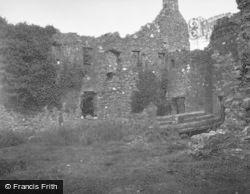 Loch Awe, Kilchurn Castle, Interior 1949