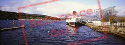 Pleasure Steamer Alongside Balloch Pier c.1990, Loch Lomond