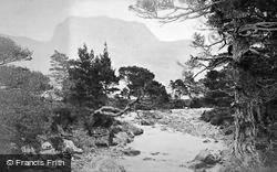 Ben Slioch From The Bridge Of Grudie c.1880, Loch Maree